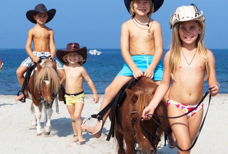 famiglia a cavallo