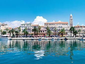 Le port de Split en Croatie